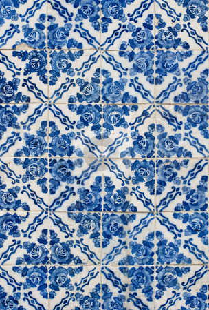 Portuguese glazed tiles 177 stock photo, Detail of Portuguese glazed tiles. by Homydesign