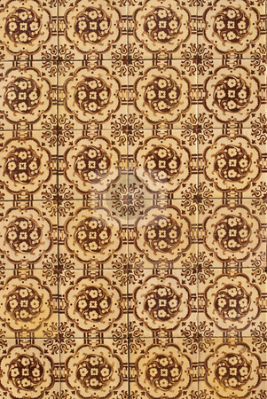 Portuguese glazed tiles 175 stock photo, Detail of Portuguese glazed tiles. by Homydesign
