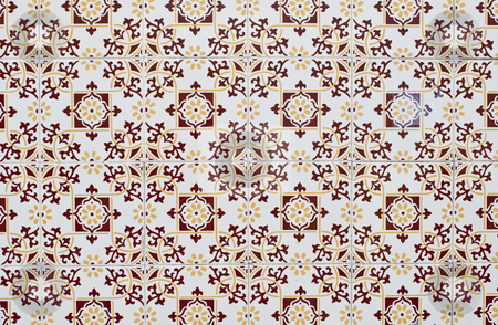 Portuguese glazed tiles 179 stock photo, Detail of Portuguese glazed tiles. by Homydesign