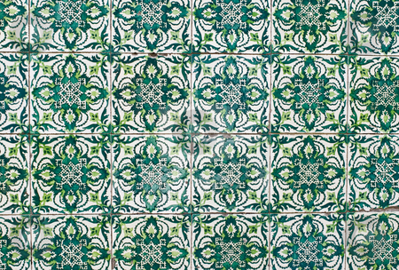 Portuguese glazed tiles 178 stock photo, Detail of Portuguese glazed tiles. by Homydesign