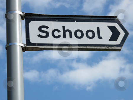 School sign close up. stock photo, School sign close up. by Stephen Rees