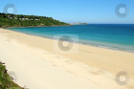 Carbis bay beach in Cornwall UK. stock photo, Carbis bay beach in Cornwall UK. by Stephen Rees