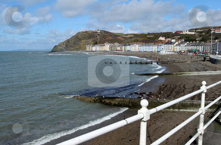 Aberystwyth North beach and promenade, Wales UK. stock photo, Aberystwyth North beach and promenade, Wales UK. by Stephen Rees