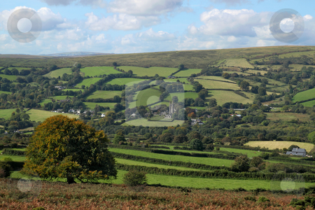 Dartmoor countryside above  Widdecombe in the Moor, Devon UK. stock photo, Dartmoor countryside above  Widdecombe in the Moor, Devon UK. by Stephen Rees
