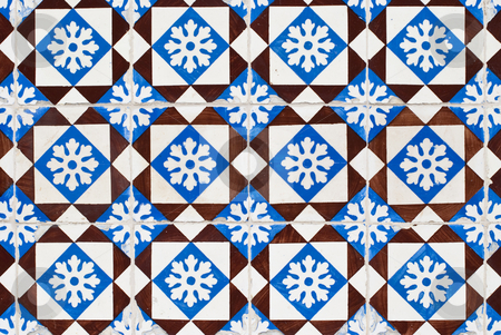 Portuguese glazed tiles 155 stock photo, Detail of Portuguese glazed tiles. by Homydesign