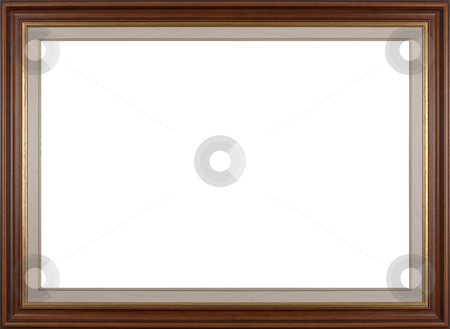 Frame stock photo, Wooden frame for paintings or photographs. by Homydesign 