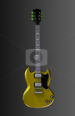 Guitar Illustration stock photo, Guitar Illustration in 3d for Rock and Roll by Kheng Ho Toh