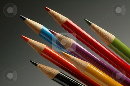 Color art pencils for drawing stock photo, Color art pencils for drawing by J.R. Bale