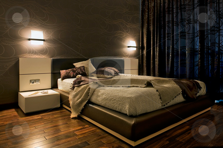 Luxury bedroom interior stock photo, Luxury bedroom int