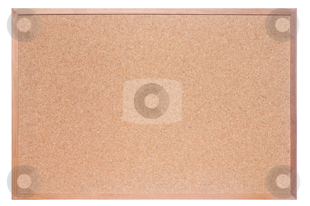 Cork Board stock photo, Kork board on isolated background by Peter Iliev