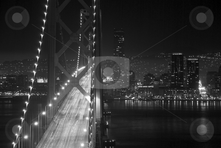 Bay Bridge stock photo, Shot from Yerba Buena Island looking at the Bay Bridge into the city of San Francisco. by Gregory Smith