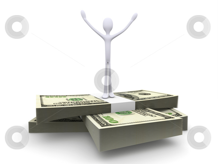 Success stock photo, 3D rendered Illustration. Isolated on white. The winner. by Michael Osterrieder