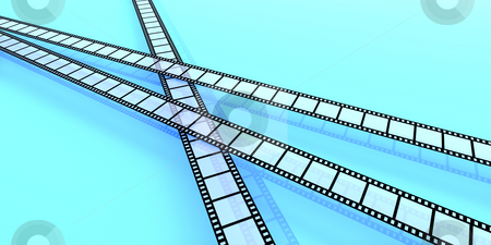 Film Strips stock photo, 3D Illustration. by Michael Osterrieder