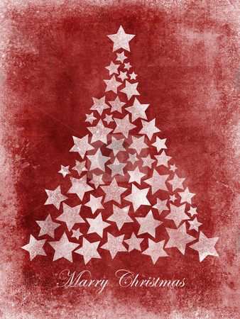 Marry Christmas tree stars grunge stock photo, Marry Christmas greetings card grunge painted by Giordano Aita