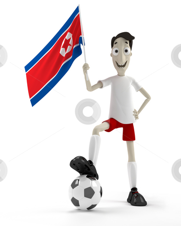 the north korean flag. #100741766 North Korean soccer