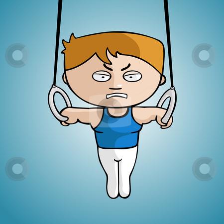 Gymnast stock photo, Gymnast draw in cartoon style by Giordano Aita