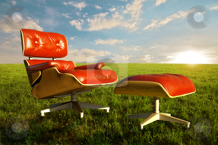 Relax in nature stock photo, Comfortable seat on grass meadow for relax moment in nature by Giordano Aita