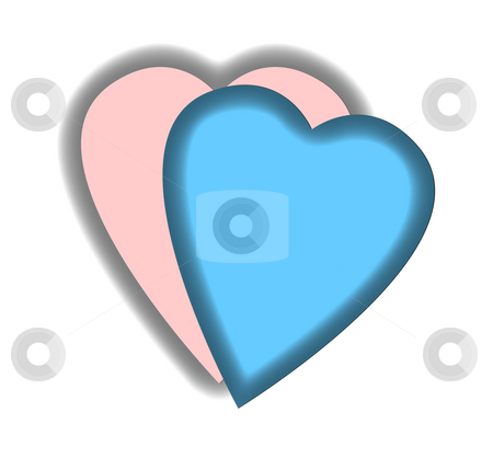 Perfect love match stock photo, Pink and blue jigsawy pieces with perfect match or fit, isolated on white background. by Martin Crowdy