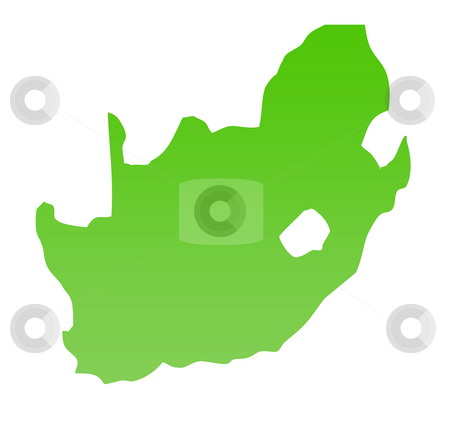 South Africa map stock photo, South Africa map isolated on a white background. by Martin Crowdy
