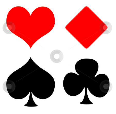 Playing Card Suit Templates http://cutcaster.com/photo/100745537-Playing-card-suits/