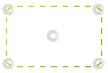 Green coupon or voucher stock photo, Blank green eco coupon or voucher isolated on white background with copy space. by Martin Crowdy