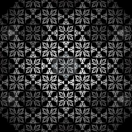 Diamond silver wallpaper stock vector clipart, Silver seamless wallpaper tile background pattern wallpaper by Michael Travers