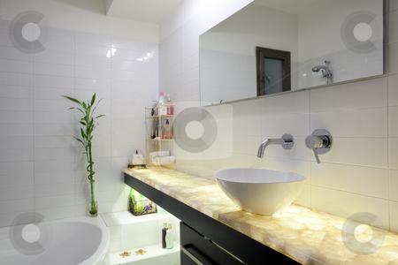 Modern Bathroom stock photo, Modern luxury bathroom by Dmitry Pistrov