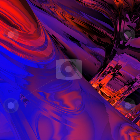 Energetic Abstract Background  stock photo, Abstract background composed of cool and warm abstract swirls of red and blue fading to purple and then black. by Mark Carrel