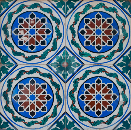 Portuguese glazed tiles 217 stock photo, Detail of Portuguese glazed tiles. by Homydesign 