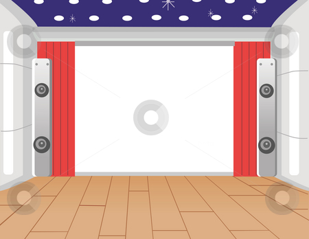 Indoor Stage stock photo, Modern indoor stage with the  floor acoustics by Su Li