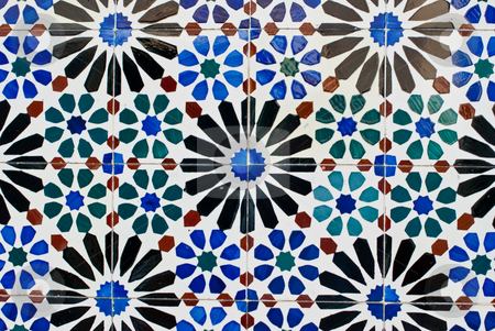 Portuguese glazed tiles 222 stock photo, Detail of Portuguese glazed tiles. by Homydesign 