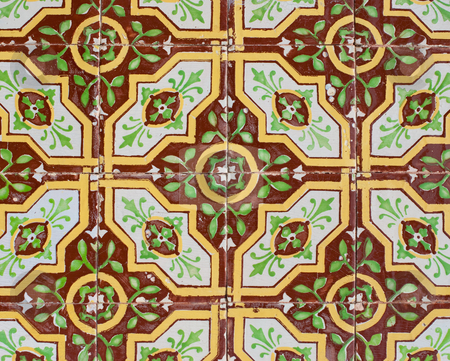 Portuguese glazed tiles 221 stock photo, Detail of Portuguese glazed tiles. by Homydesign
