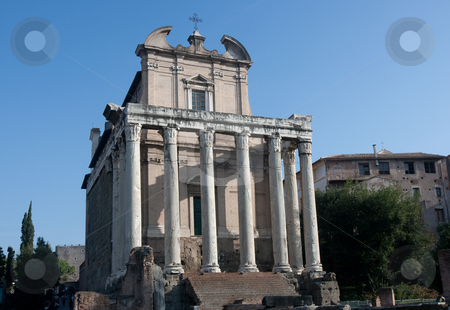 Temple of Antoninus and Faustina stock photo, Roman Temple of Antoninus and Faustina, Forum Romanum, Rome, Italy by Juergen Schonnop