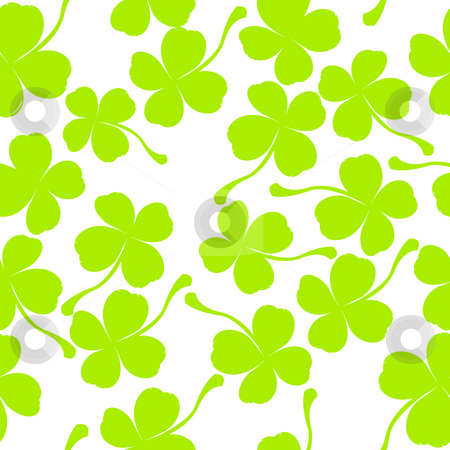  clover leaves stock photo, Seamless pattern with clover leaves by Richard Laschon