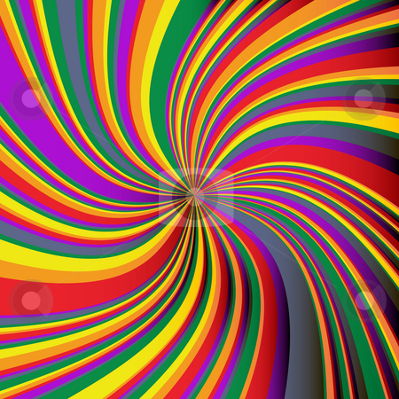 Rainbow background stock photo, Swirl rainbow background, abstract art by Richard Laschon