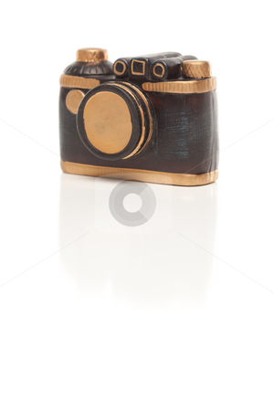 Ceramic Point and Shoot Camera on White stock photo, Ceramic Point and Shoot Camera Isolated on a White Background. by Andy Dean
