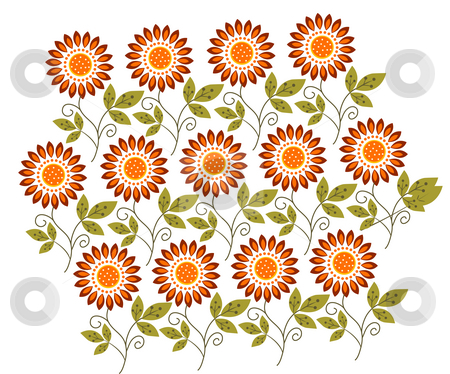 Flower pattern stock photo, A vivid illustration of flower pattern background by Su Li
