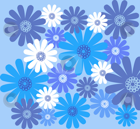 Blue Daisy Flowers Blue Daisy Flower Pattern