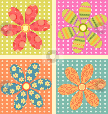 Flowe background stock photo, A beautiful drawing of flower and square background by Su Li