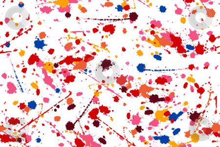 Color splash inkblot stock photo, Beautiful and colourful inkblot in a white background by Su Li