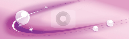 Abstract curves and pearl background stock photo, Illustration drawing of beautiful purple curves and white circles by Su Li