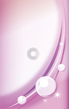 Pearl stock photo, Illustration drawing of purple curves and white circles by Su Li
