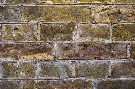 Brick wall stock photo, Brick wall of a Kyiv fortress wall (Ukraine) by Onyshchenko Viktor