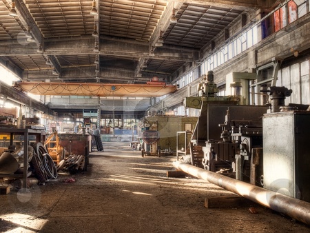 Old factory stock photo, Inside of an old factory or hardware store from the mid-20th c. by Sinisa Botas