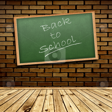 Back to school! stock photo, Photo of urban interior with school blackboard by Sergej Razvodovskij