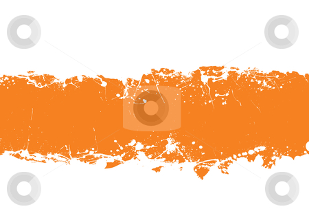 Grunge strip background orange stock vector clipart, Abstract grunge illustrated background with ink splat effect by Michael Travers