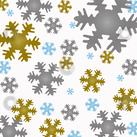 Snowflake background stock photo, Clip art snowflakes by Jacqui Martin