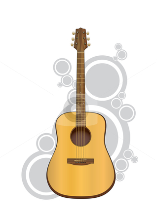 Acoustic Guitar stock vector clipart, Vector acoustic guitar. by Claudiu Badea