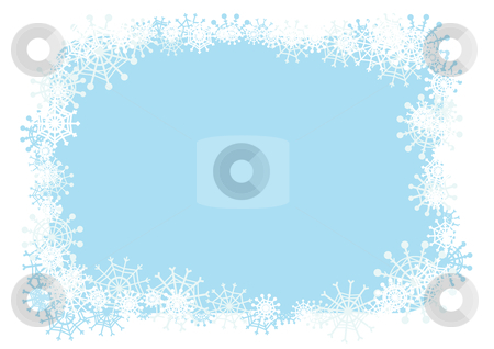 Winter frame stock vector clipart, Vector winter frame for your season's design. by Claudiu Badea