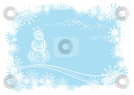 Winter background stock vector clipart, Vector winter illustration by Claudiu Badea